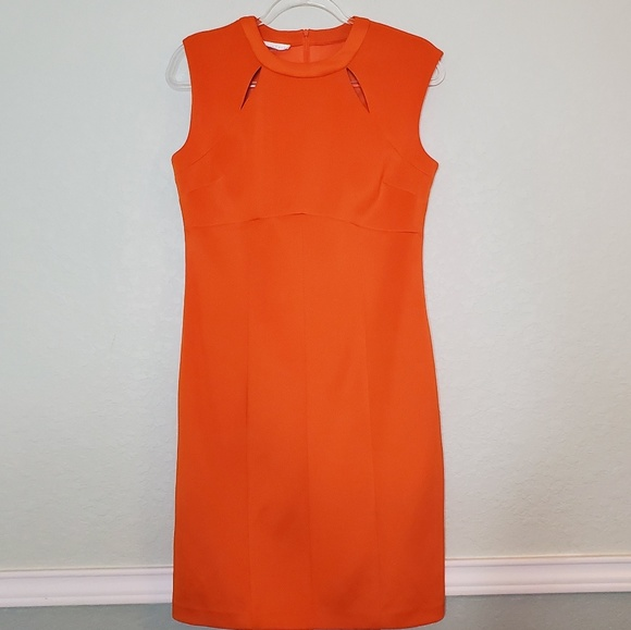 London Times Dresses & Skirts - LONDON TIMES Fitted Dress in Orange